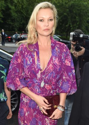 Kate Moss - Arriving at the Victoria and Albert Museum Summer Party in London
