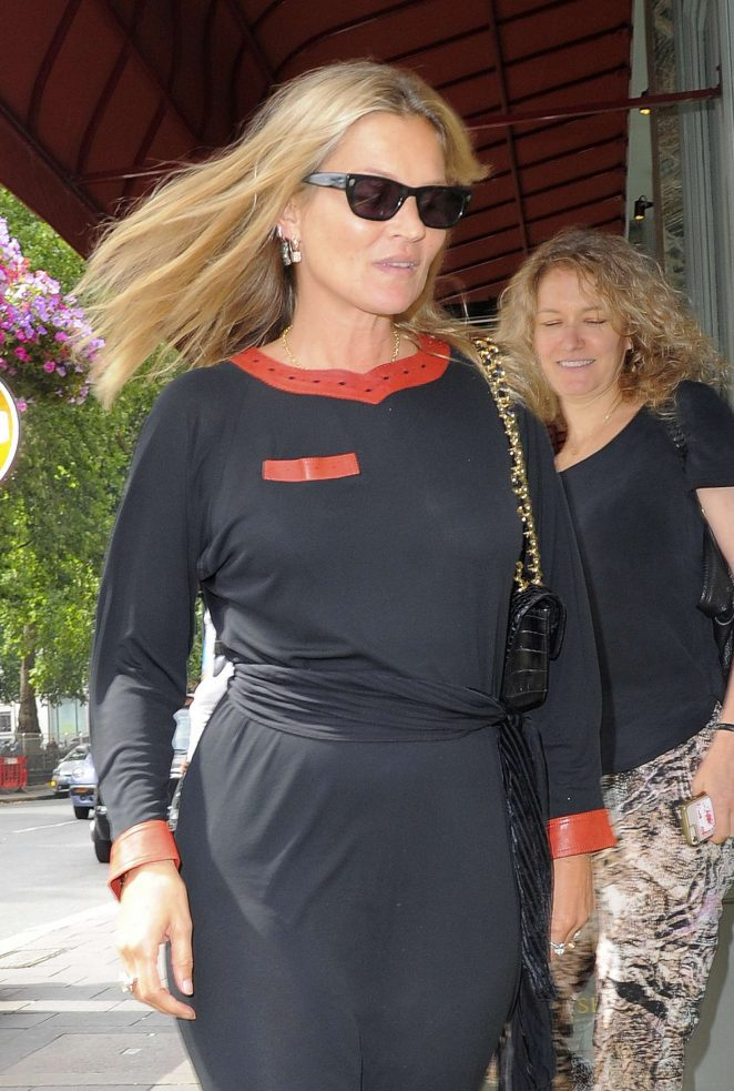 Kate Moss at Sexy Fish Restaurant in Mayfair