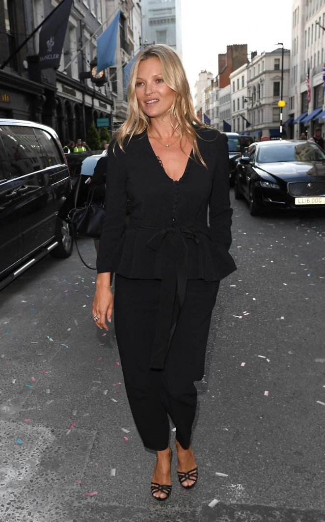 Kate Moss at the Stella McCartney store on Bond St in London