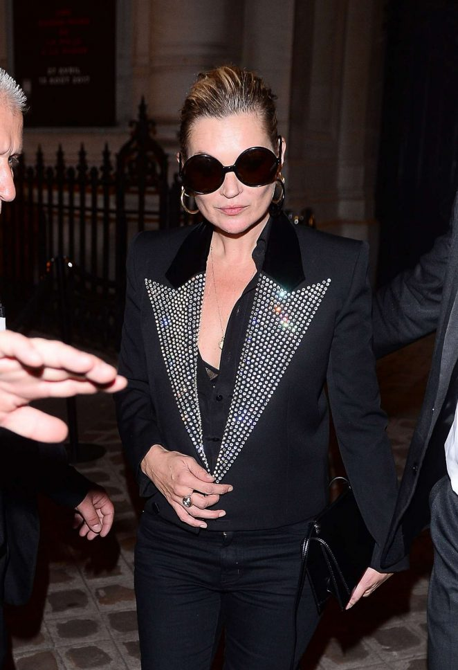 Kate Moss – Attends the Vogue Party 2017 in Paris
