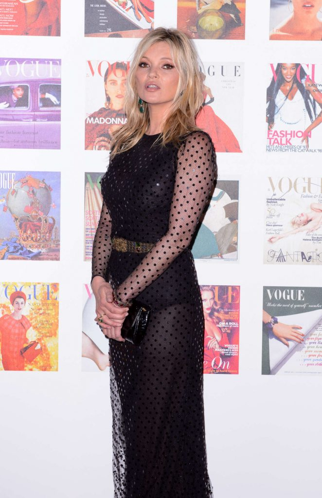 Kate Moss - British Vogue 100th Anniversary Gala Dinner in London