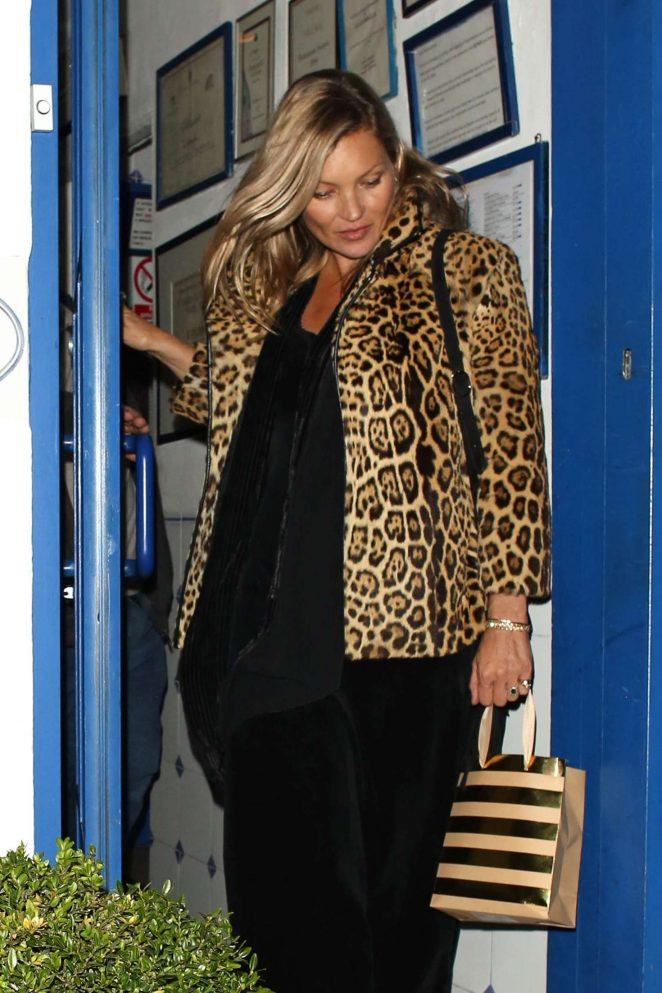 Kate Moss - Celebrate Lotties 20th birthday at La Famiglia restaurant in Chelsea