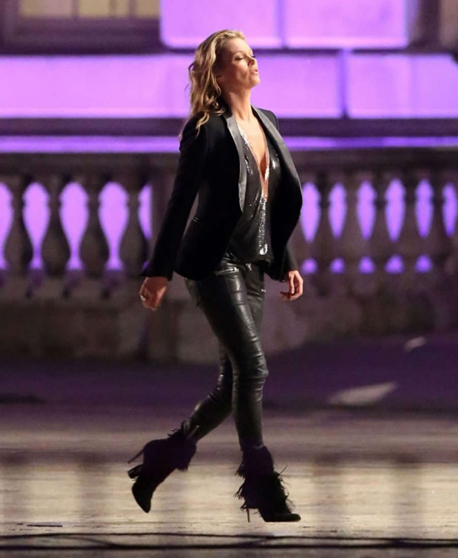 Kate Moss: Filming a Rimmel Commercial -04