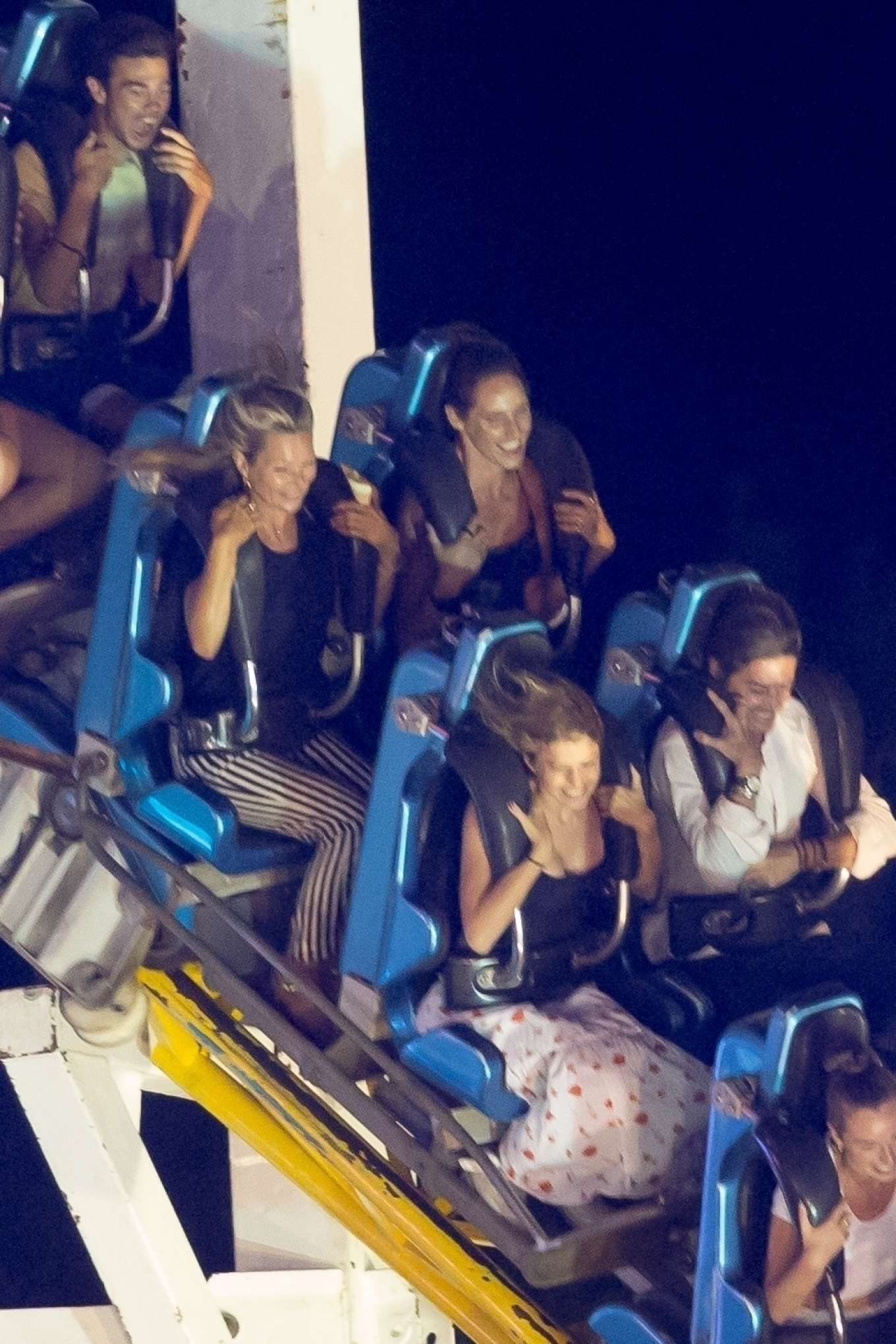 Kate Moss have fun in the amusement park Azur park in Gassin