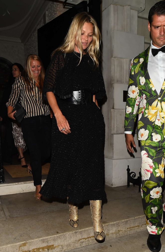 Kate Moss - Leaves Annabel's Club in London