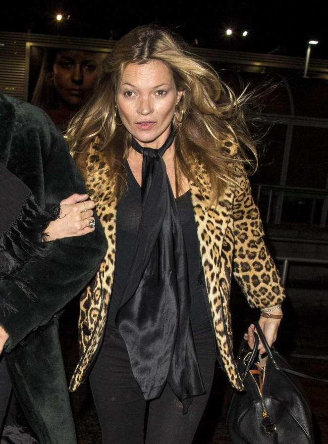 Kate Moss - Leaves Craigellachie Hotel in Scotland