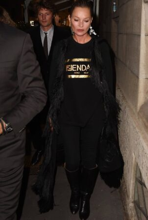 Kate Moss - Leaves Fendace after party during Milan Fashion Week