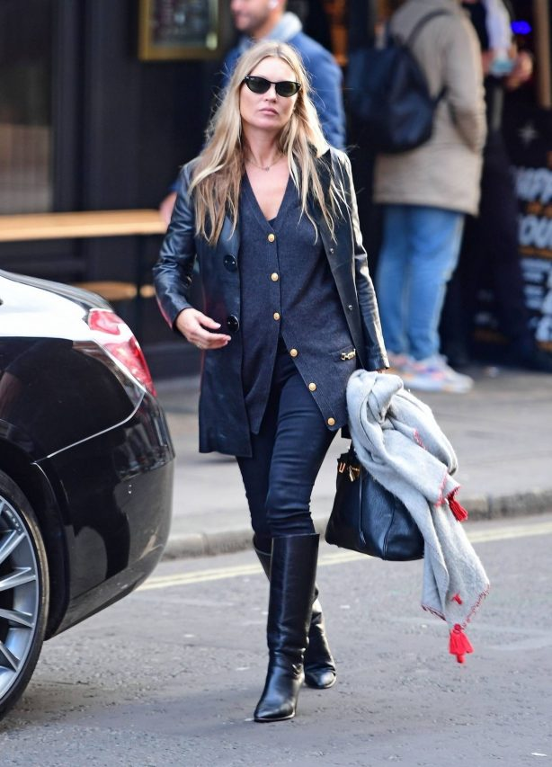 Kate Moss - Leaving a hairdresser in Soho