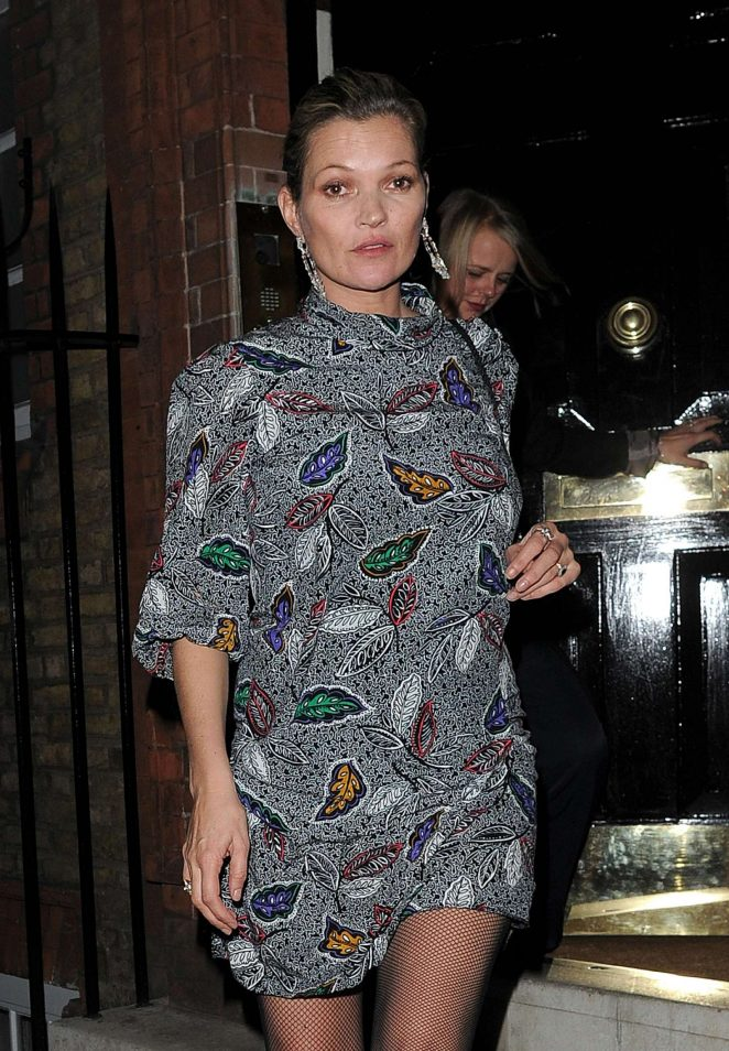 Kate Moss night out in Chelsea