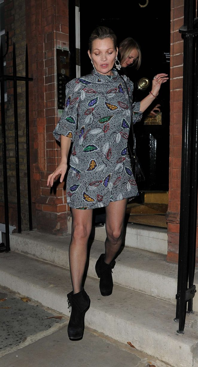Kate Moss night out in Chelsea -09