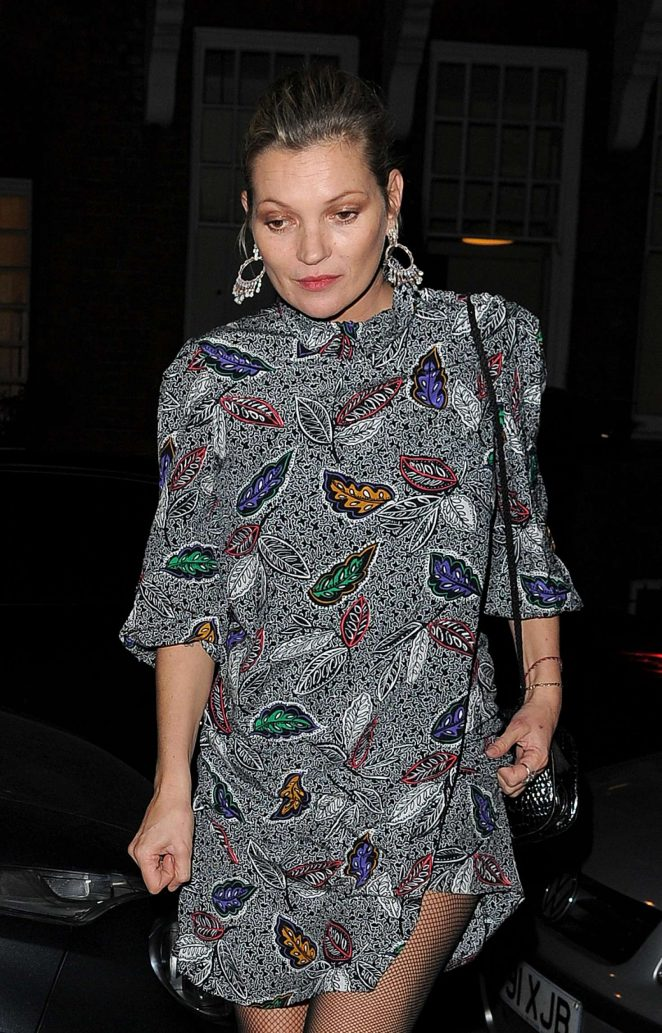 Kate Moss night out in Chelsea -10