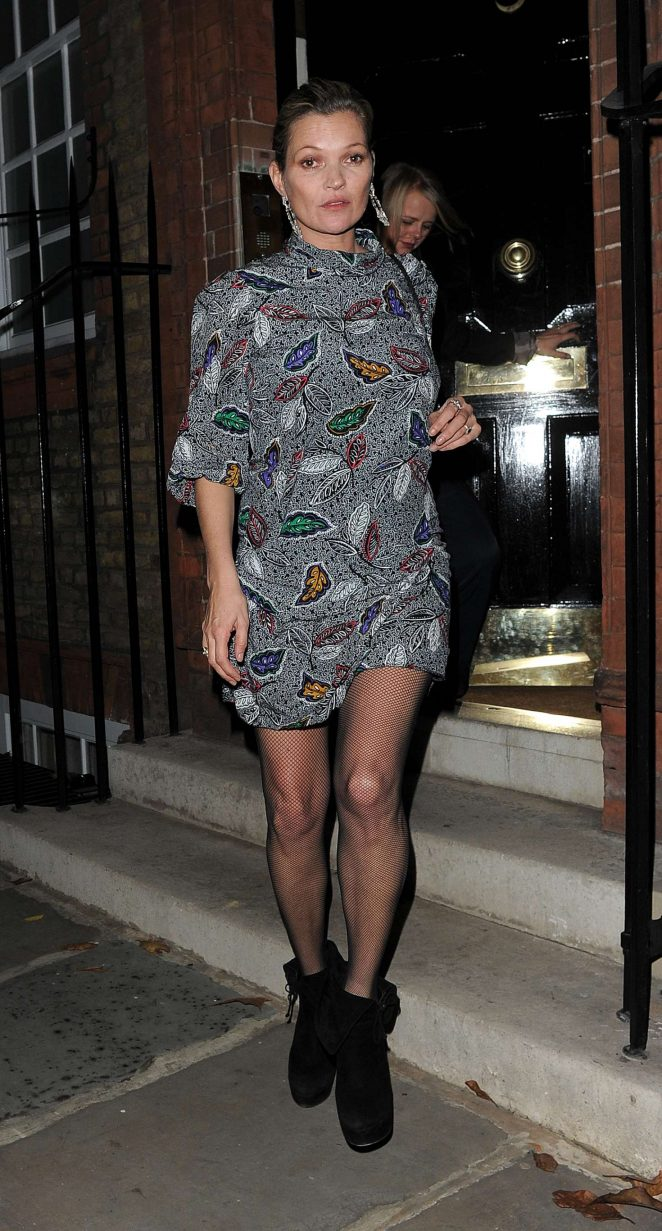 Kate Moss night out in Chelsea -11