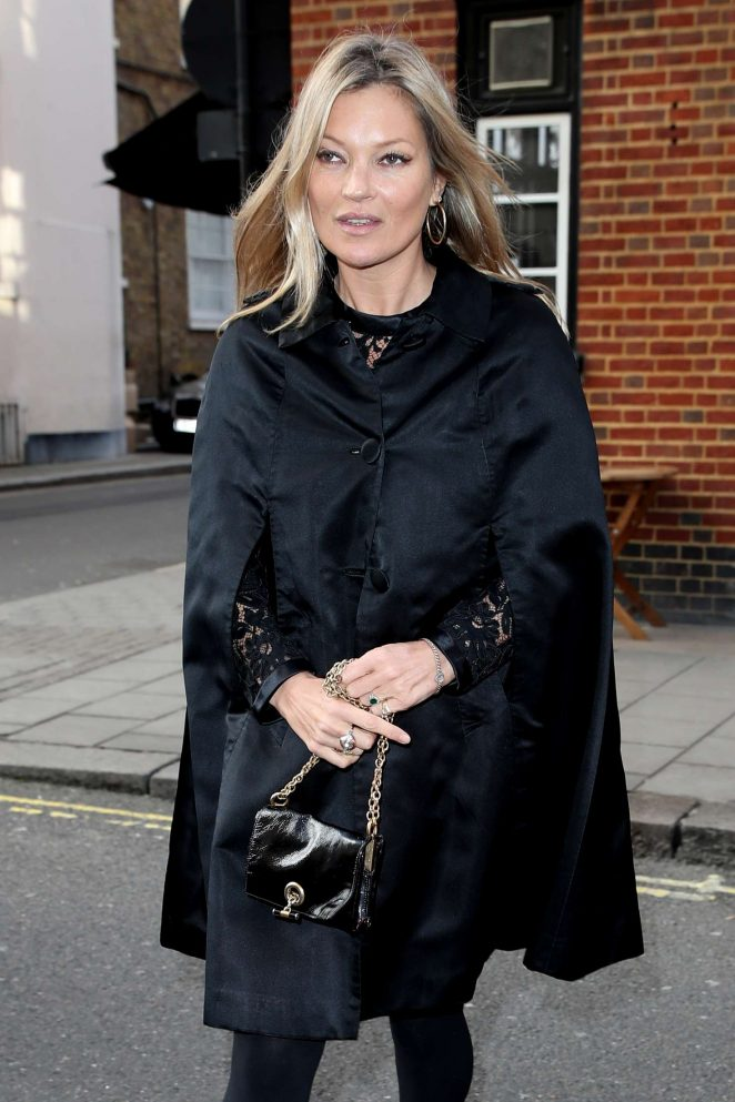 Kate Moss out in Mayfair