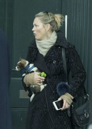 Kate Moss out in North London