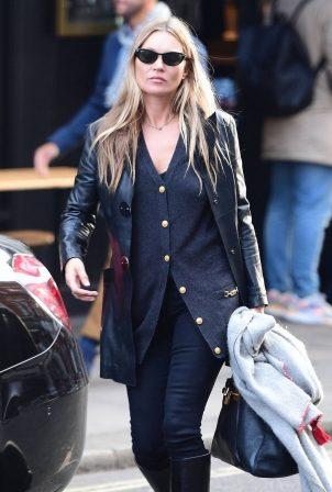 Kate Moss - Seen Leaving a hairdresser in Soho