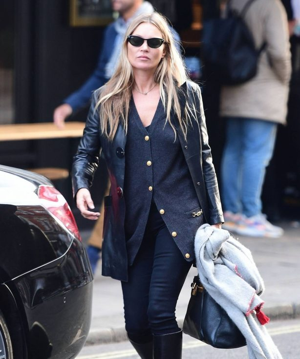 Kate Moss - Seen Leaving a hairdresser in Soho