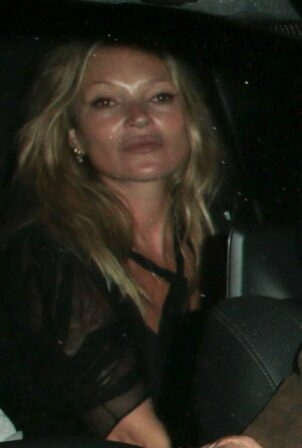 Kate Moss - Seen leaving Mick Jaggers house party in London