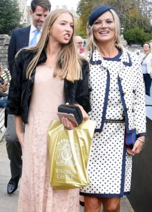 Kate Moss with her daughter Lila Grace Moss - Leaving Windsor Castle