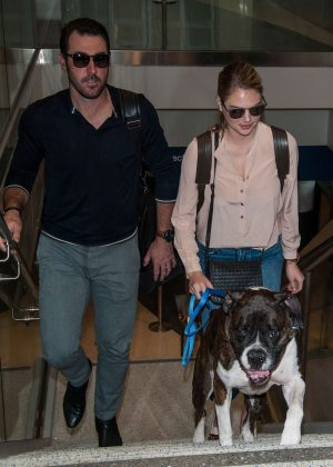 Kate Upton and Fiance Justin Verlander at LAX Airport in Los Angeles