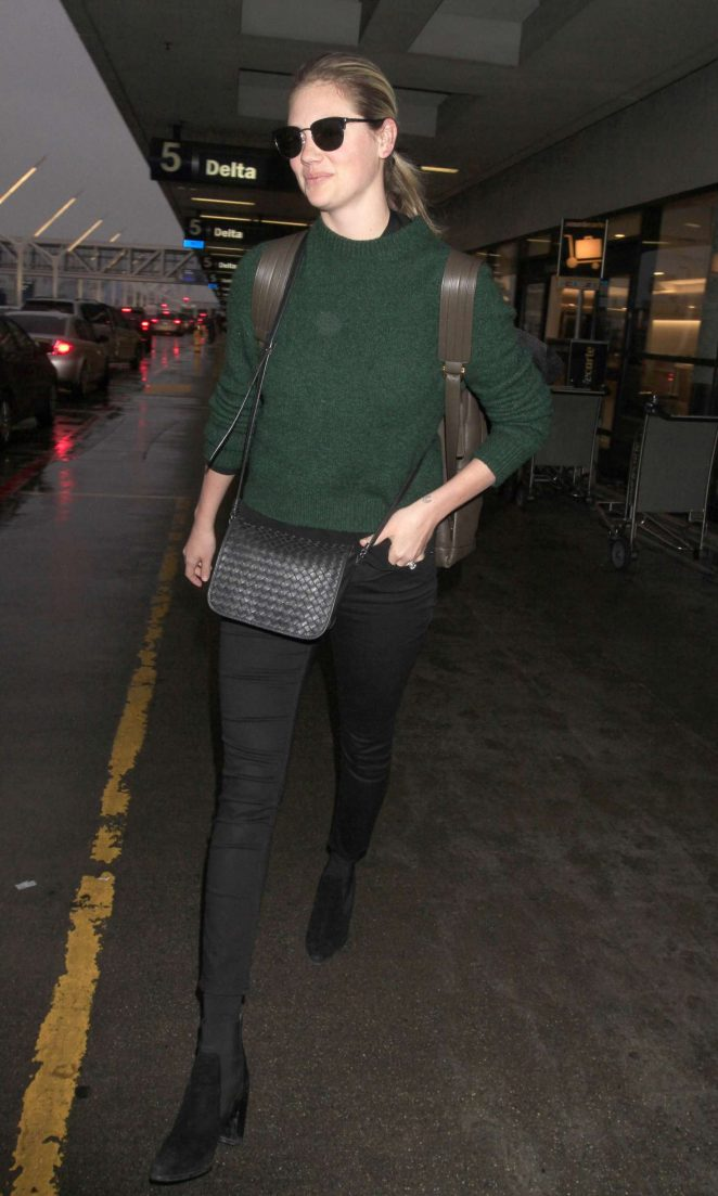 Kate Upton: Arrives at LAX Airport -01