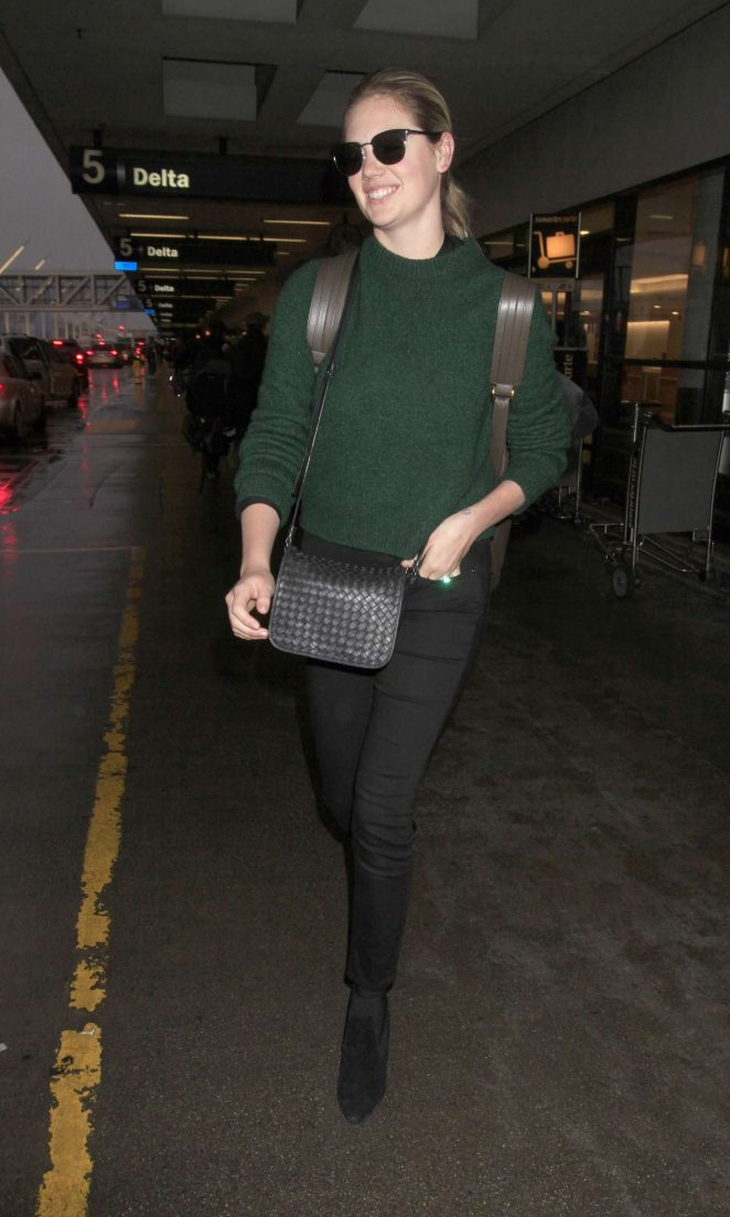 Kate Upton: Arrives at LAX Airport -07