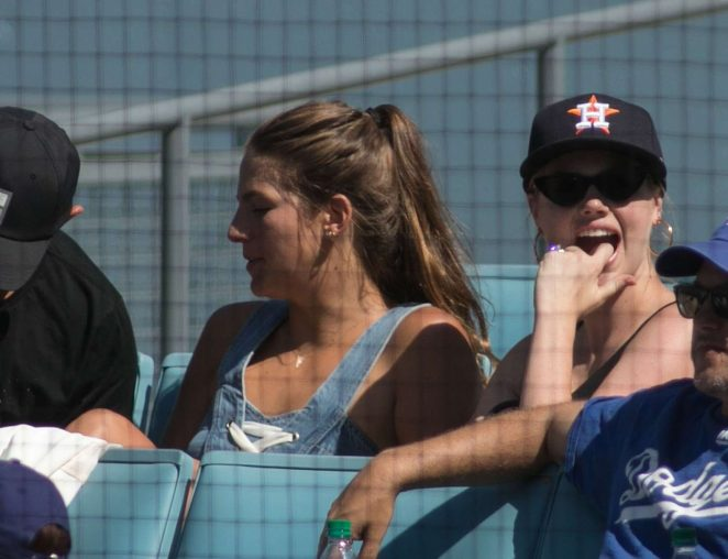 Kate Upton at Dodgers vs Astros Game in Los Angeles