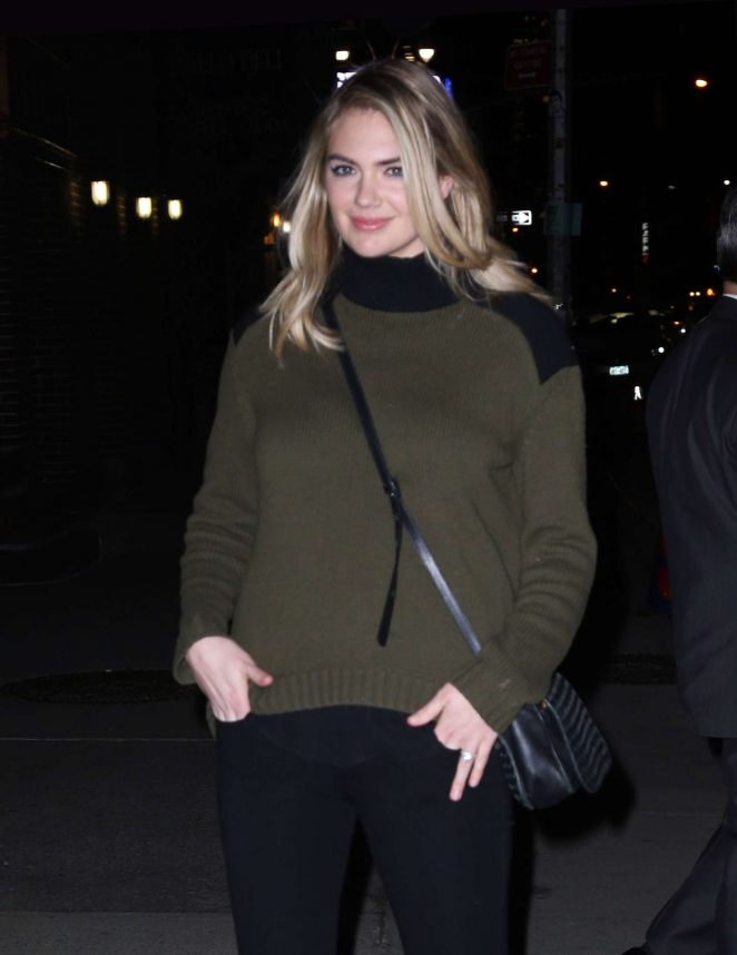 Kate Upton at 'Late Show with Stephen Colbert' in New York