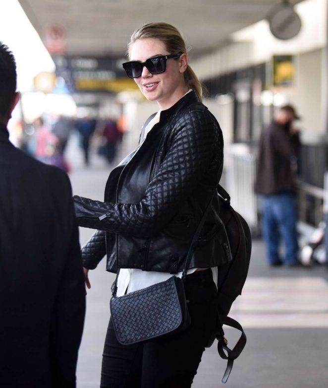 Kate Upton at Los Angeles Airport