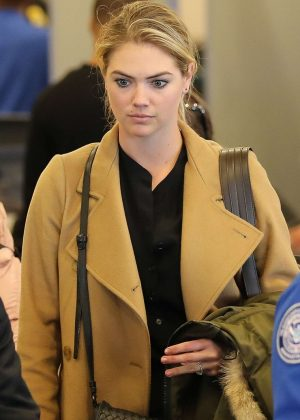 Kate Upton at the LAX airport in Los Angeles