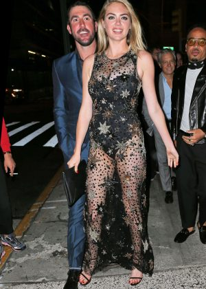 Kate Upton - Celebrating her 24th Birthday at The Blond in New York
