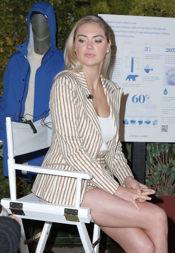 Kate Upton - Conversation About Impact Climate Change Has On The Future Of Polar Bears
