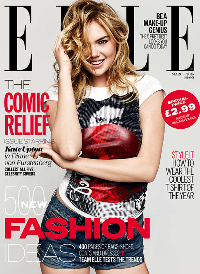 Kate Upton - ELLE UK Cover (March 2015)
