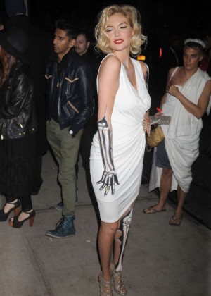 Kate Upton - Heidi Klum Halloween Party 2015 in NY