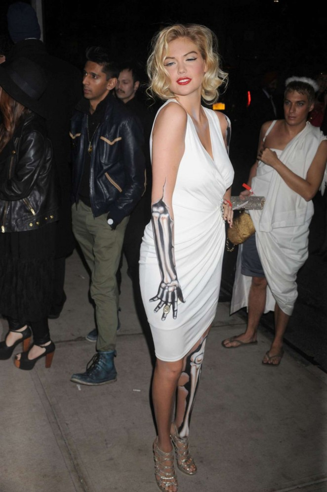 Kate Upton – Heidi Klum Halloween Party 2015 in NY