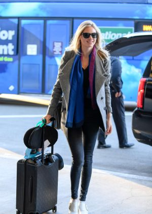 Kate Upton in Black Jeans at LAX airport in LA