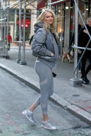 Kate Upton in Grey Outfit - Out in NYC
