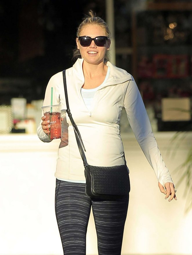 Kate Upton in Leggings out in Los Angeles