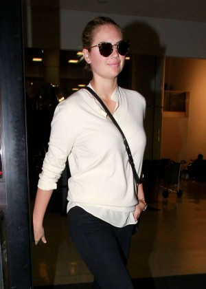Kate Upton in Tight Jeans at LAX Airport in LA