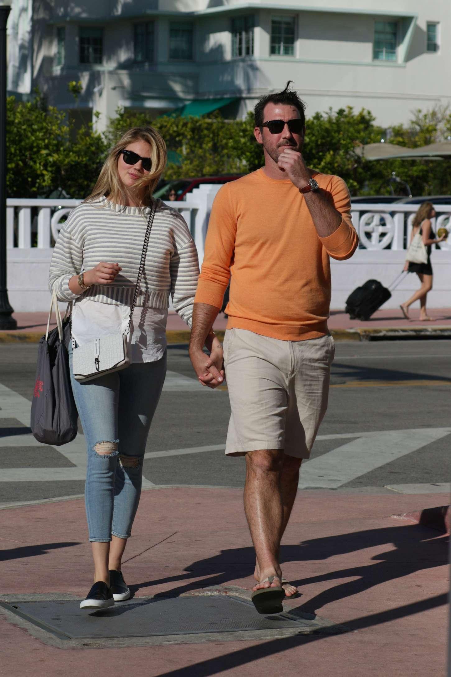 Kate Upton & Justin Verlander Out in Miami