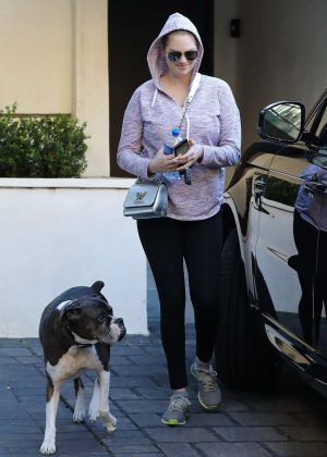 Kate Upton - Leaves her house with her dog in Beverly Hills