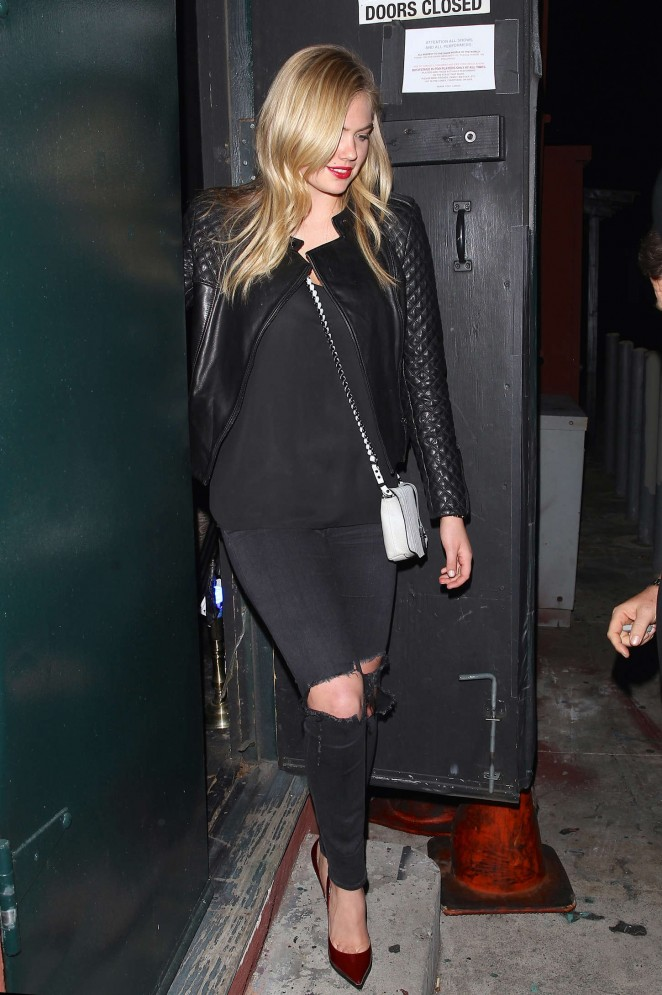 Kate Upton - Leaving Largo Nightclub in LA