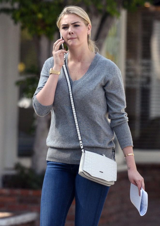 Kate Upton in Jeans Leaving the Nancy Nayor Casting Office in LA