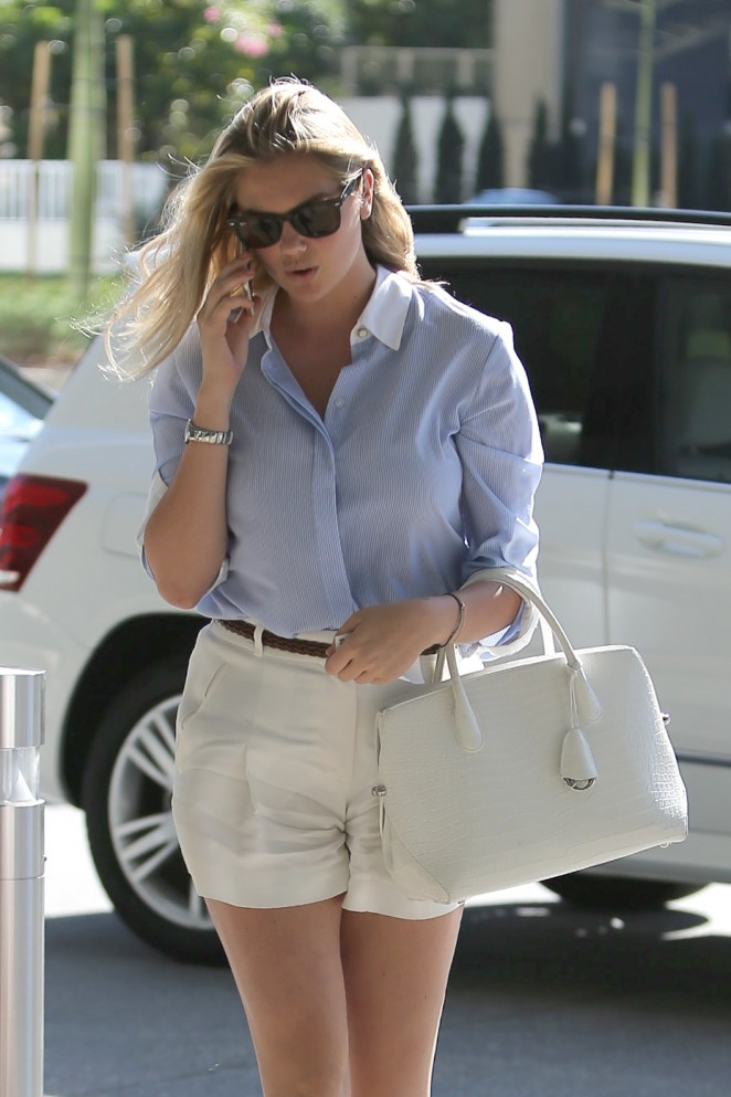 Kate Upton in Shorts out in Century City
