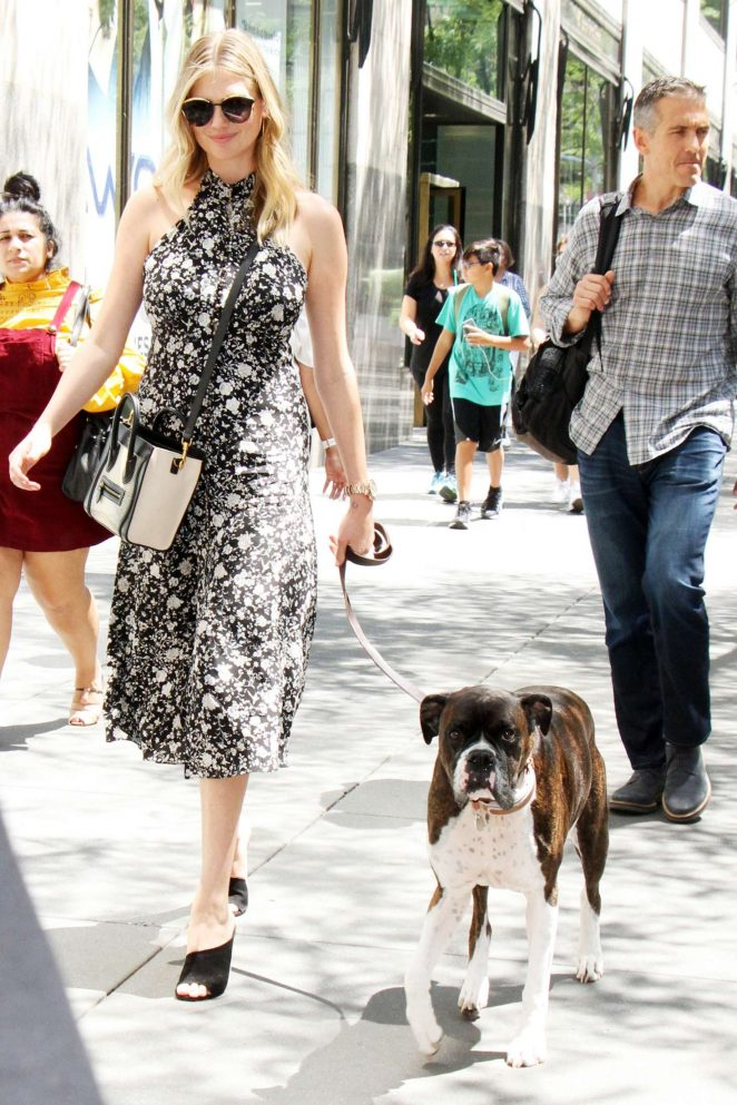 Kate Upton -  Walking her dog in New York