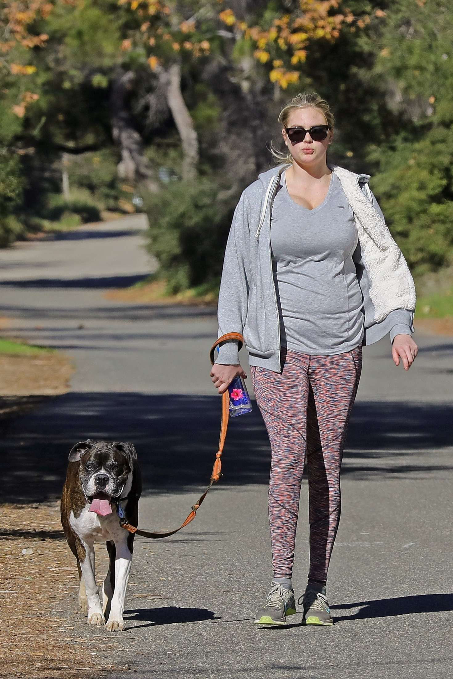 Kate Upton 2019 : Kate Upton with her dog hiking in the Hollywood Hills -05