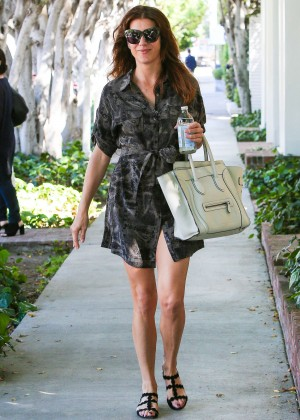 Kate Walsh in Mini Dress Out in West Hollywood