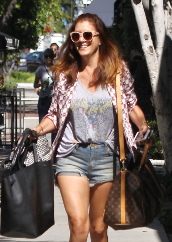 Kate Walsh in Jeans Shorts Out in LA