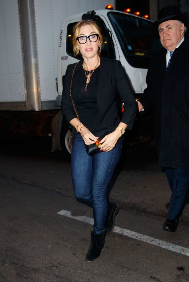 Kate Winslet - Arrives at a screening for her new movie in New York City