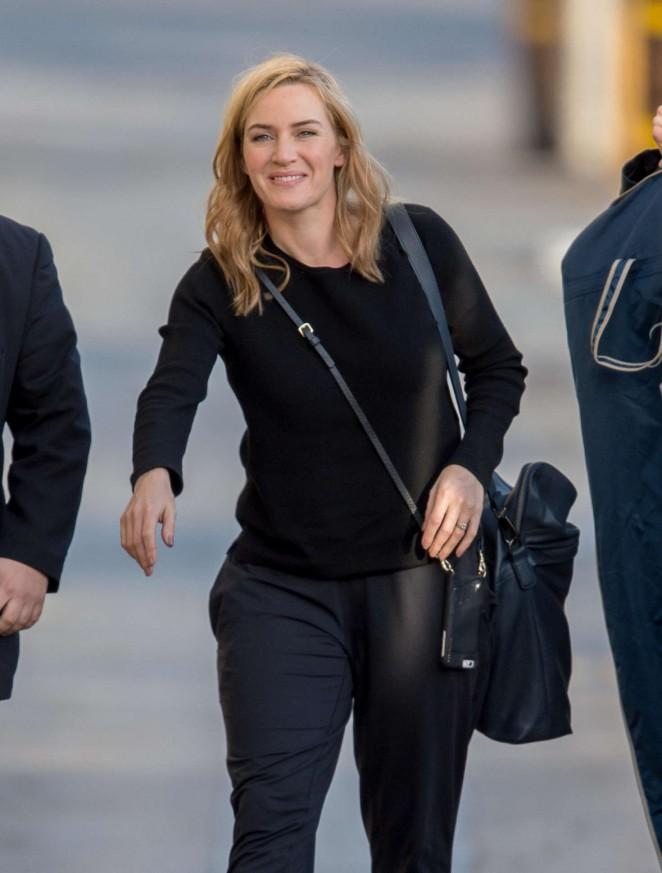 Kate Winslet - Arriving at 'Jimmy Kimmel Live' in LA