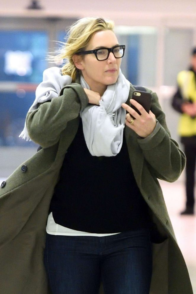 Kate Winslet at JFK Airport in NYC